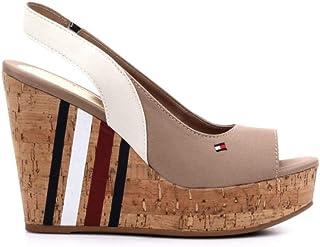 c8ee8cc932445d Tommy Hilfiger Sling Back Wedge Sandal Stripes, Plateforme Femme