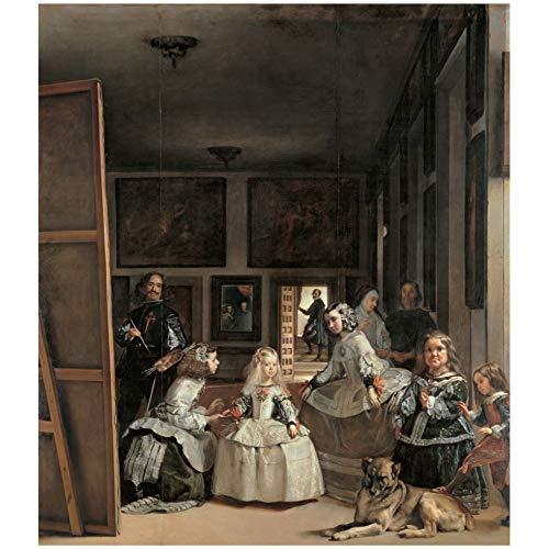 Cartel del Museo del Prado \Las meninas o La familia de Felipe IV-Velazquez\