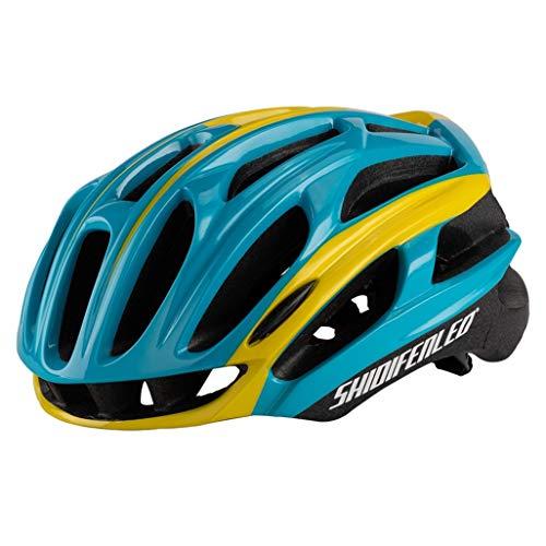 Ultraleichter Rennradhelm Integrierter geformter Mountain Road Bike Helm Verstellbarer Fahrradhelm für Erwachsene für Männer und Frauen