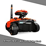 Cigooxm YD-211 WiFi FPV 0.3MP Camera App Remote Control Spy Tank RC Toy Phone Controlled Robot