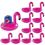 24 Drink holders drink floaties, Pool drink holder floats, flamingo inflatable floating drink cup holder, pool and bath toys, Pool accessories drink holder, floating wine glasses for the pool, jacuzzi