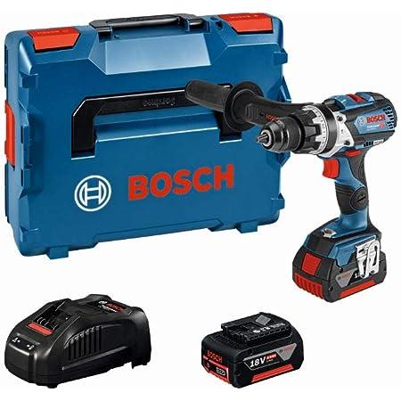 Bosch Professional 18V System Akku Schlagbohrschrauber GSB 18V-85 C (max. Drehmoment 85 Nm, inkl. 2x5.0Ah Akku + Ladegerät, in L-BOXX 136)
