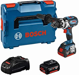 Bosch Professional 18V System Akku Schlagbohrschrauber GSB 18V 85 C (max. Drehmoment (hart/weich) 110 Nm/47Nm, inkl. 2x5.0Ah Akku + Ladegerät, in L BOXX)