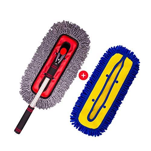 RUIX Autowaschbürste Langer Griff Versenkbar/Drehbar/Autowaschbürste/Wischmopp/Staubwischer