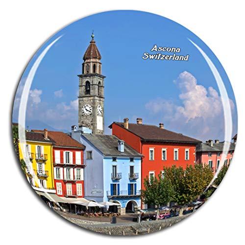Weekino Svizzera Ascona Ticino Calamità da frigo 3D Cristallo Bicchiere Tourist City Viaggio Souvenir Collezione Regalo Forte Frigorifero Sticker