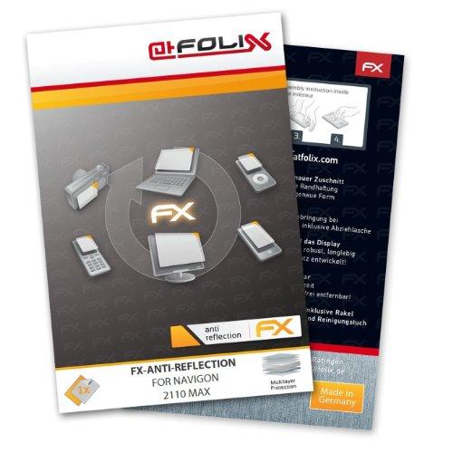 atFoliX Displayschutzfolie für Navigon 2110 max - FX-Antireflex: Display Schutzfolie antireflektierend! Höchste Qualität - Made in Germany!