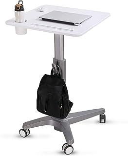 コンピュータ机の移動式上昇のノートパソコンの机は座ることができます/机の表彰台のデモンストレーションの立場