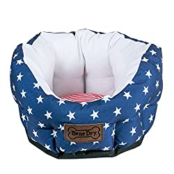 in budget affordable Bone Dry Lattice / Star and Stripe Pet Bed, Small Circle – 16 x 16 x 9, Star and Stripe