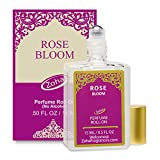 Rose Bloom Perfume Oil Roll-On (No Alcohol) - Natural Organic Essential Oils and Hypoallergenic Vegan Perfumes for Women and Men by Zoha Fragrances, 15 ml / 0.50 fl Oz