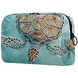 Bolsa de Maquillaje Organizador Small CosmeticBagsforWomen Neceser de Viaje Neceser Estuche de Maquillaje Monedero Bolso Sea Turtle in Cancun Mexico Turtle Preserve