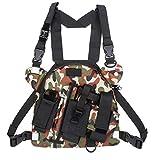 Marsupio radio Borse per imbracatura tascabili, borse per tasca sul petto con radio walkie-talkie Utilizzate per la corsa, gli sport in bicicletta, le sfide estreme, l'escursionismo e il campeggio