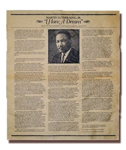 Our Amendments Martin Luther King, Jr, I Have a Dream Rede. Poster Größe (58,4x 73,7cm)