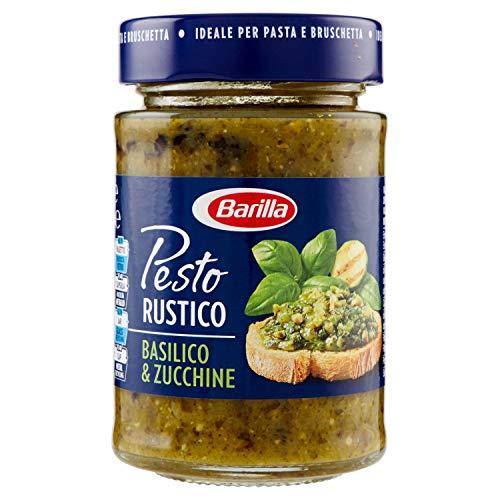 Barilla Sugo Pesto Rustico Basilico e Zucchine, Senza Glutine, 200 g