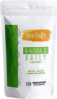 SMART FOR LIFE Algae Omega 3 Vegan Supplement - 120 Capsules - Plant Based Fish Oil Vegan Supplement Alternative - EPA & D...