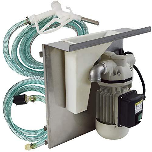 AdBlue® -Tank-Set zur Aufhängung an IBC-Containern - Komplett Set mit selbstansaugender 230V-Pumpe, Saug- & Druckschlauch, AdBlue-Zapf-Pistole, digitalem Zähler