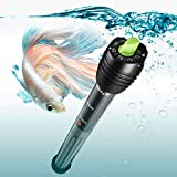 Orlushy 150W Submersible Aquarium Heater, Fish Tank Heater with Adjustable Temperature and 2 Suction Cups for 20-30 Gallon Tank 6ft Power Cord