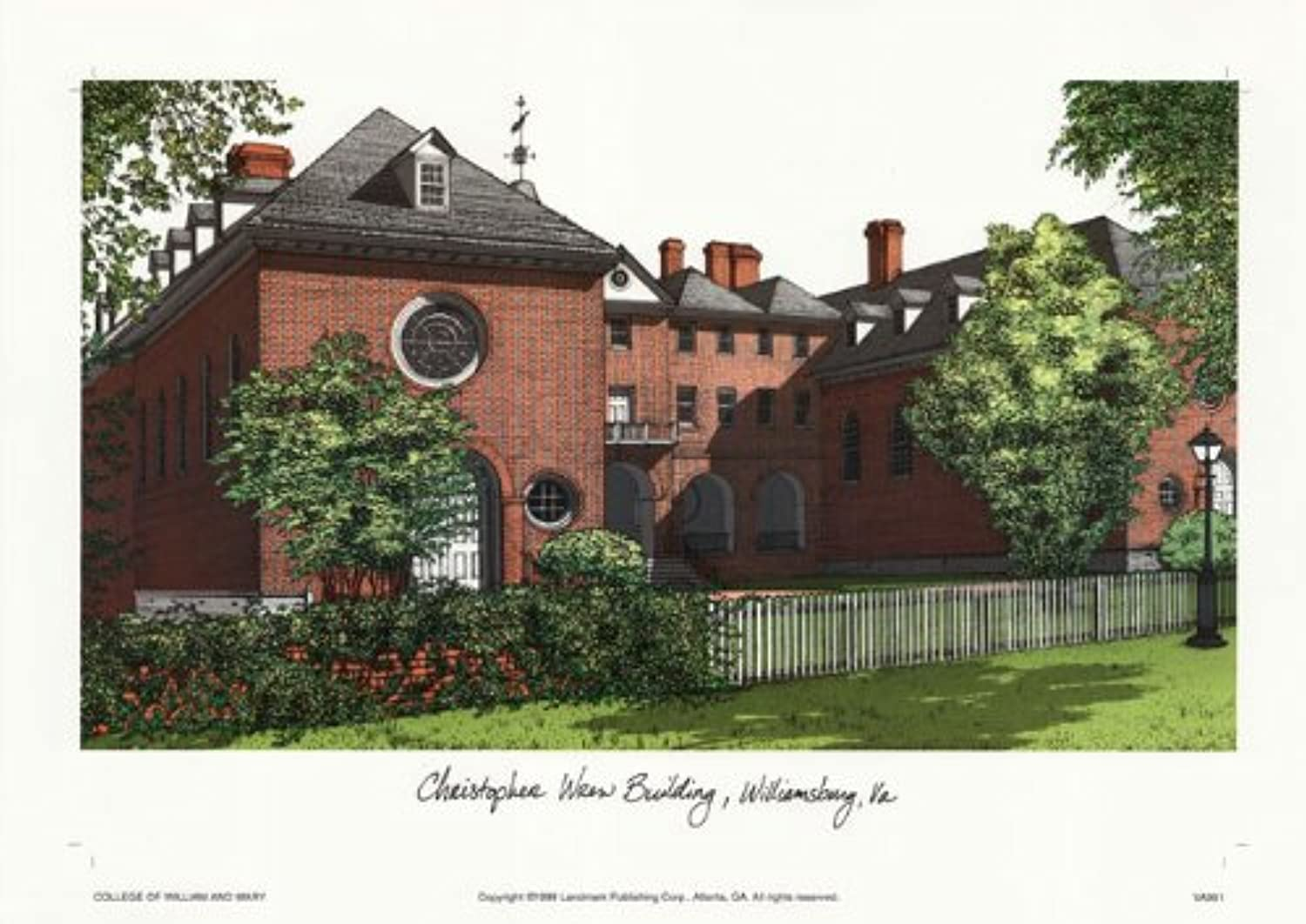 Campus Images College of William and Mary Lithographic Print