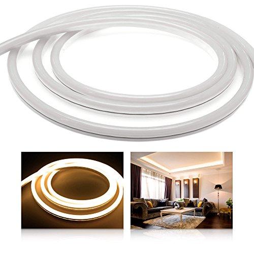 Ledu Neon Flex Premium LED Blanc Chaud (24 V bande de LED Stripe LED sans lumière points, durchgängig lumineux, 9 W/M, EEK : A), 4 Meter 24.00 volts
