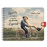 Trashy World Libro de firmas Personalizado Boda, Tu Foto en la Portada, Libro de visitas, 25x30 cm, 50 páginas Gruesas, Espiral, Bonito y Original