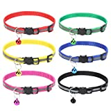 Reflective Cat Collar Quick Release - Adjustable 6 Pack Cat Collars for Kittens Cute and Durable, Soft and Comfortable
