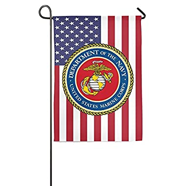 Andy And Reid USMC Marine Corps 18  W x 27  H - Decoration Spring Summer Flower Floral Garden Flag