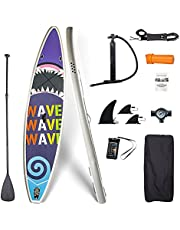 Luxmars Inflatable Stand Up Paddle Board ISUP Set SUP Board Accessories & Backpack, Non-Slip Deck,Waterproof Bag, Leash, Paddle and Hand Pump For Kid,Woman,Man,Unisex