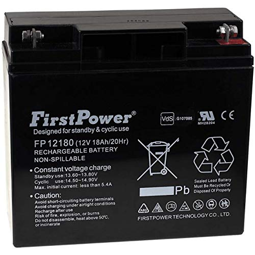 FirstPower Batería de Gel FP12180 12V 18Ah VDS