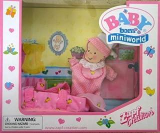 Baby Born Miniworld Sleep Suit, Carrier & Accessories