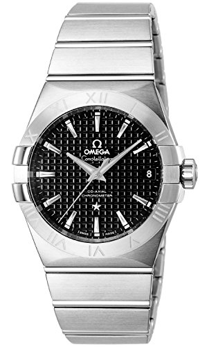 Omega Constellation Black Dial Stainless Steel Mens Watch 123.10.38.21.01.002