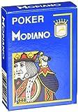 Modiano Cartes Jeu 488–Poker Cristallo, 4Index Bleu Clair