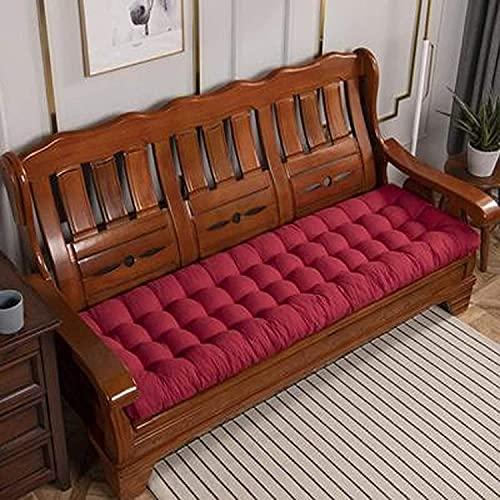 chenyu Cojines gruesos para banco de jardín de 8 cm, tamaño extra largo, 200 cm, 2 – 4 plazas, para interior de la bahía, cojín para asiento de patio, tumbona (48 x 160 cm), color rojo