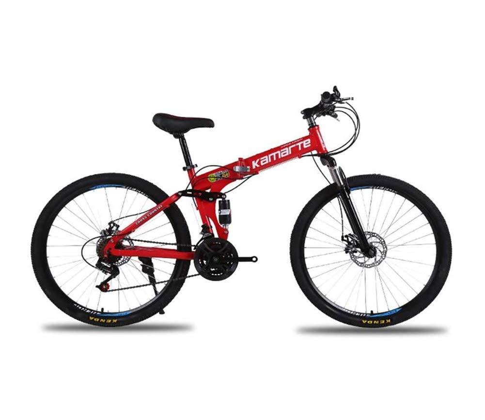 QWE Bicicleta de montaña, Frenos de Doble Disco Todoterreno de ...