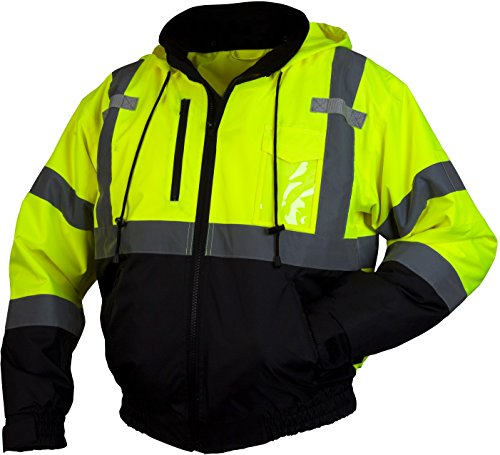 Pyramex RJ31 Series Lumen X Class 3 Fleece Bomber Safety Jacket, Lime, 4X-Large