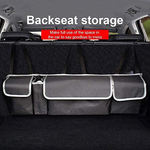 Car Boot Organizer, Car Trunk Organizer Car Seat Organizer Boot Tidy Organizer Hochleistungs-Auto-Rücksitz-Organizer mit wasserdichtem, 4 Taschen, 4 verstellbaren Trägern und