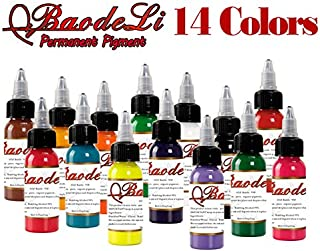 Permanent makeup pigment color tattoo ink kit 14 colors micropigment makeup bloodline tattoo pigment set 30ML