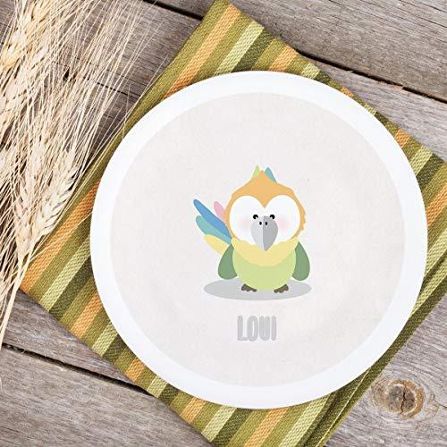 Teller Kinderteller Melaminteller Kunststoffteller Dreamchen Papagei