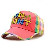 wopiaol Sombreros para niños Coreanos, Letras de béisbol, Gorras Bordadas.