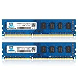 DDR3L-1600 UDIMM 16GB Kit (2x8GB) PC3L 12800 8GB Unbuffered Non-ECC 1.35V CL11 2Rx8 PC3/PC3L 12800U DDR3/DDR3L 1600MHz Dual Rank 240-Pin Desktop Arbeitsspeicher