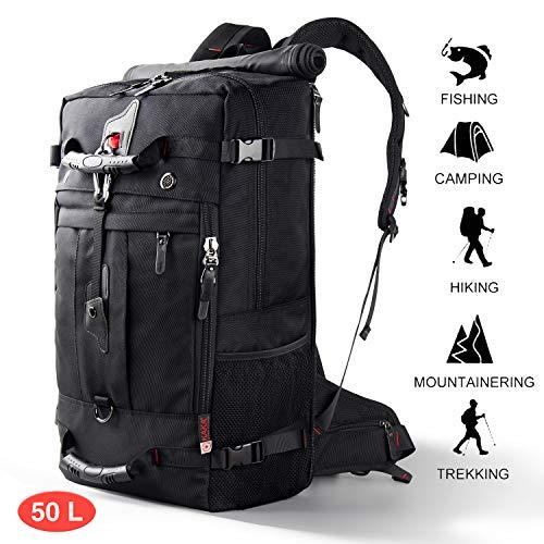 CANSHN 50L 3in1 großer Multifunktion Wanderrucksack Rucksack Herren für Outdoor Camping Reise mit...