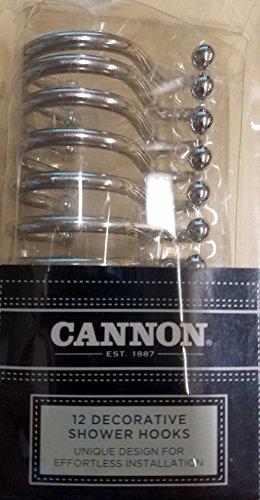 CANNON 12 Decorative Shower Hooks Silver