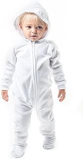 Arctic White Infant Hoodie Fleece Onesie