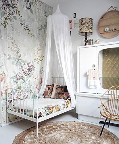 AULLY PARK Dosel de cama para niños, de algodón, para interior de bebé, decoración para cama y dormitorio, para protección contra mosquitos y insectos, color blanco