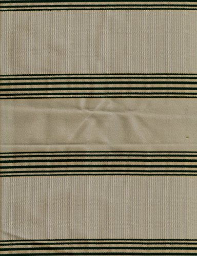 """60""""x80"""" Upholstery Queen Size Futon Mattress Cover-Satin Spruce Stripe-Spruce/CreamMade of Heavy Duty Italian Fabric/Made in USA"""