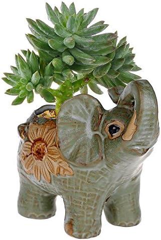 Ceramic elephant planter _image0