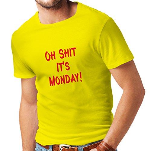 n4068Oh shit ES lunedì T-Shirt Unisex Gelb Rot m