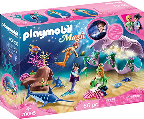 Playmobil Fille - Coquillage lumineux avec sirènes