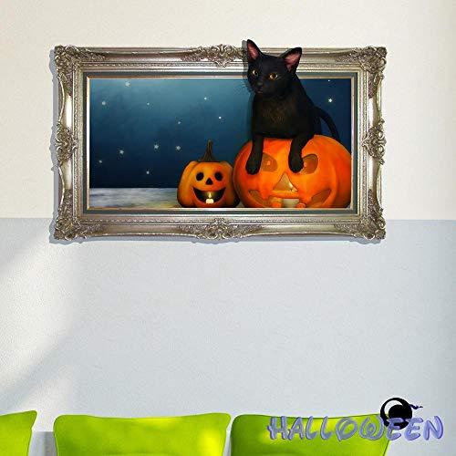 Gardenia 2019 kreative Wohnzimmer Schlafzimmer Hintergrund Dekoration Malerei Halloween Loch 3D Stereo DIY Selbstklebende Dekorative Malerei, A, 58 * 62,5 cm