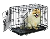 Midwest Life Stages Double-Door Folding Metal Dog Crate, 22 Inches by 13 Inches by 16 Inches