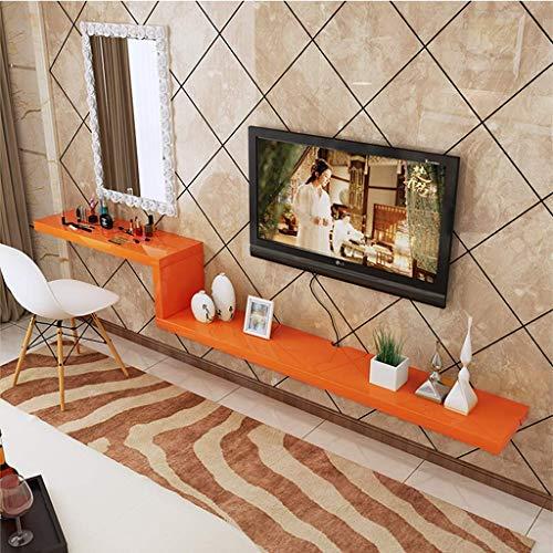 TV Rack Estante de TV Montado en la Pared Estante Flotante Photo Toy Display, Naranja, 180 cm