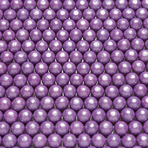 "Shimmer Purple 1/2 Inch Gumballs - Grape Flavored - 2 Pound Bags - Includes ""How To Build a Candy Buffet Table"" Guide"